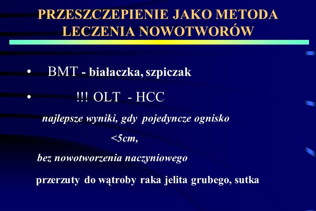 PRZESZCZEPIENIE JAKO METODA LECZENIA NOWOTWORÓW BMT - białaczka, szpiczak !!.