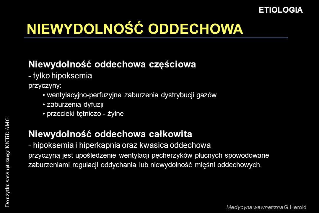 Do użytku wewnętrznego KNTiD AMG NIEWYDOLNOŚĆ ODDECHOWA Niewydolność oddechowa częściowa - tylko hipoksemia przyczyny: wentylacyjno-perfuzyjne zaburzenia dystrybucji gazów zaburzenia dyfuzji przecieki tętniczo - żylne Niewydolność oddechowa całkowita - hipoksemia i hiperkapnia oraz kwasica oddechowa przyczyną jest upośledzenie wentylacji pęcherzyków płucnych spowodowane zaburzeniami regulacji oddychania lub niewydolność mięśni oddechowych.