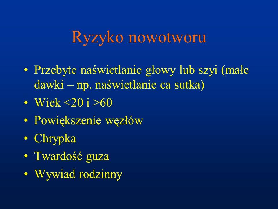 MEN 2 A  Rak rdzeniasty  Pheo  Rozrost przytarczyc B  Rak rdzeniasty  Pheo  Nerwiaki, postawa marfanoidalna FMTC