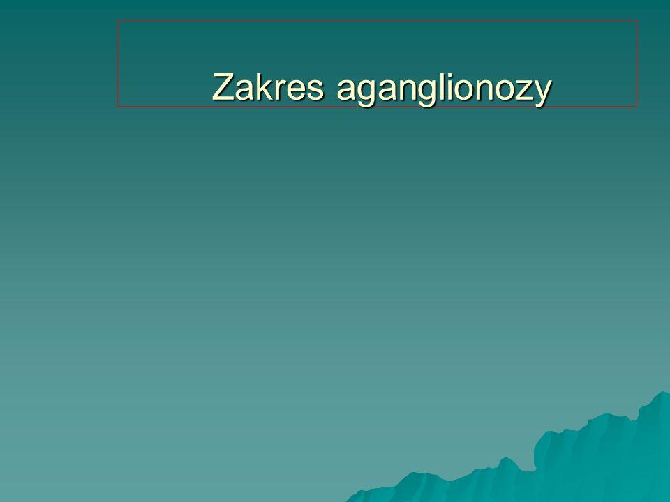 Zakres aganglionozy Zakres aganglionozy