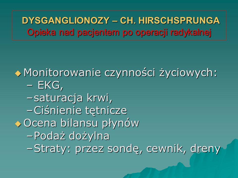 DYSGANGLIONOZY – CH. HIRSCHSPRUNGA Opieka nad pacjentem po operacji radykalnej DYSGANGLIONOZY – CH. HIRSCHSPRUNGA Opieka nad pacjentem po operacji rad