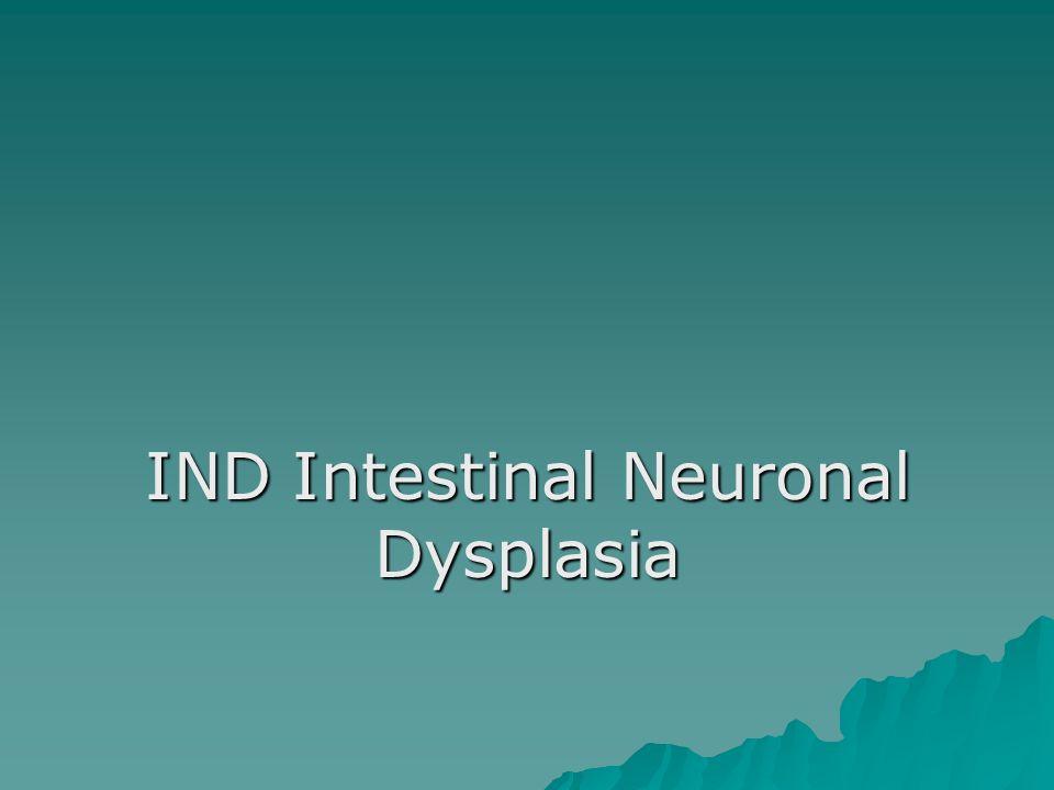IND Intestinal Neuronal Dysplasia