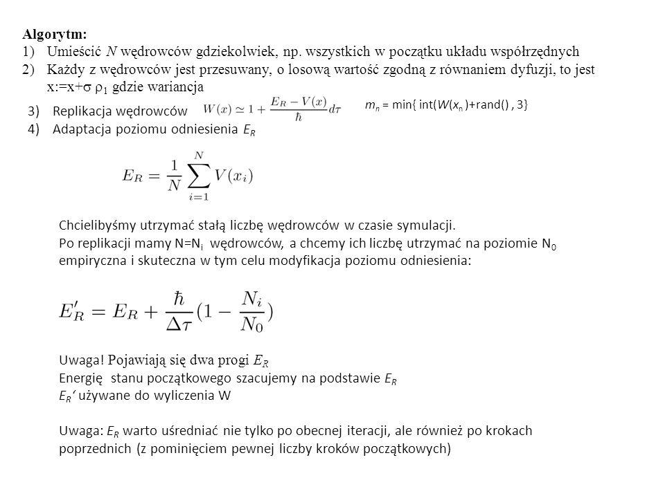 Algorytm: 1)Umieścić N wędrowców gdziekolwiek, np.