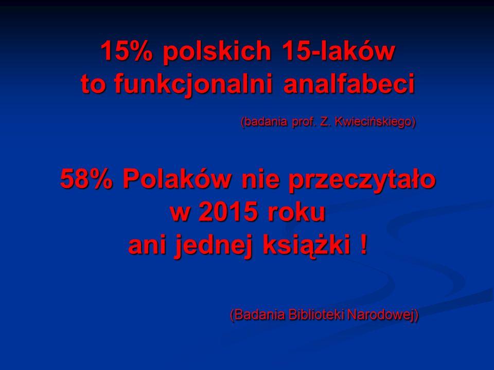 15% polskich 15-laków to funkcjonalni analfabeci (badania prof.