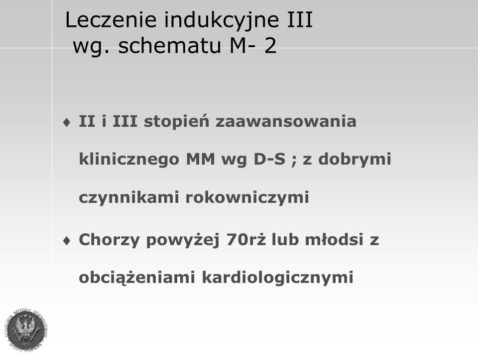 Leczenie indukcyjne III wg.