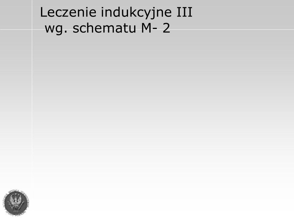 Leczenie indukcyjne III wg. schematu M- 2