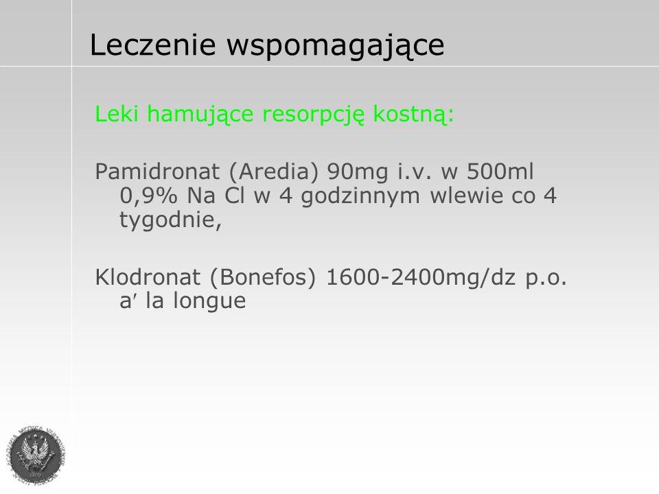 Leki hamujące resorpcję kostną: Pamidronat (Aredia) 90mg i.v.
