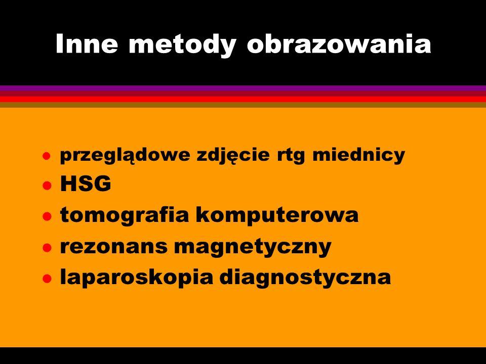 Badanie USG l trzon macicy ( wielkość, struktura budowy ) l endometrium ( grubość, rozmieszczenie ) l przydatki ( struktura jajników, ocena jajowodów