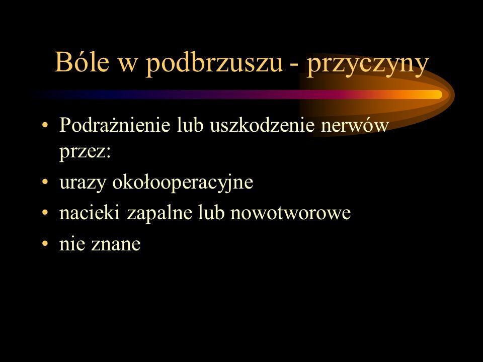 Przyczyny bólów - cd.