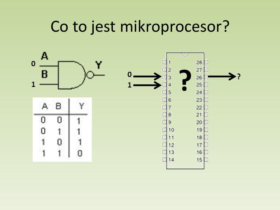 Mikroprocesor przetwarza sygnały wejścia na sygnały wyjścia według wcześniej zdefiniowanego programu Sam mikroprocesor jest zdolny jedynie do cyfrowych operacji logicznych, nie jest on zdolny do sterowania maszynami mechanicznymi ani nie cyfrowymi układami elektronicznymi Aby mikroprocesor mógł sterować maszyną należy doposażyć go w tzw.