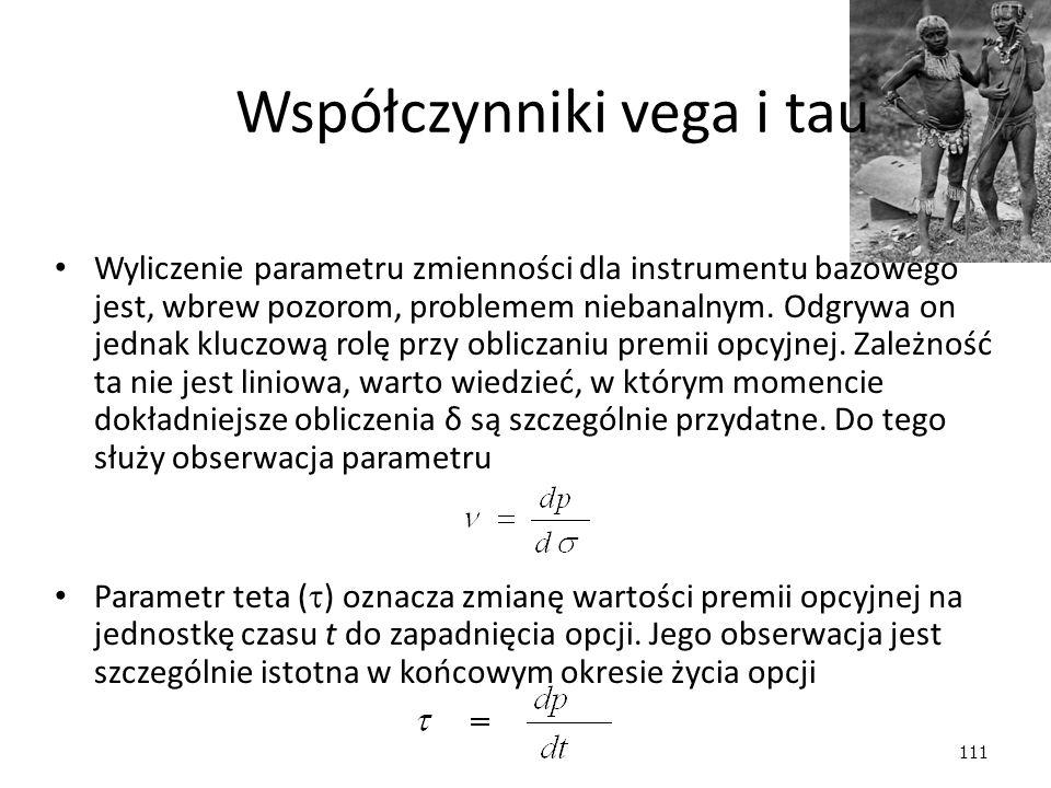111 Wyliczenie parametru zmienności dla instrumentu bazowego jest, wbrew pozorom, problemem niebanalnym. Odgrywa on jednak kluczową rolę przy obliczan