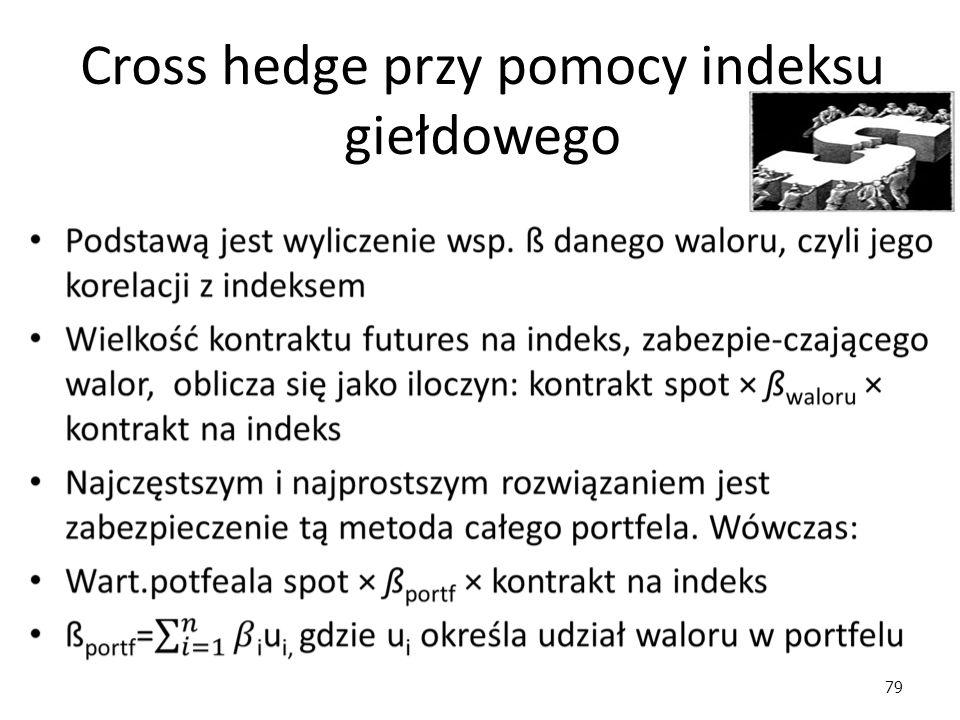 79 Cross hedge przy pomocy indeksu giełdowego