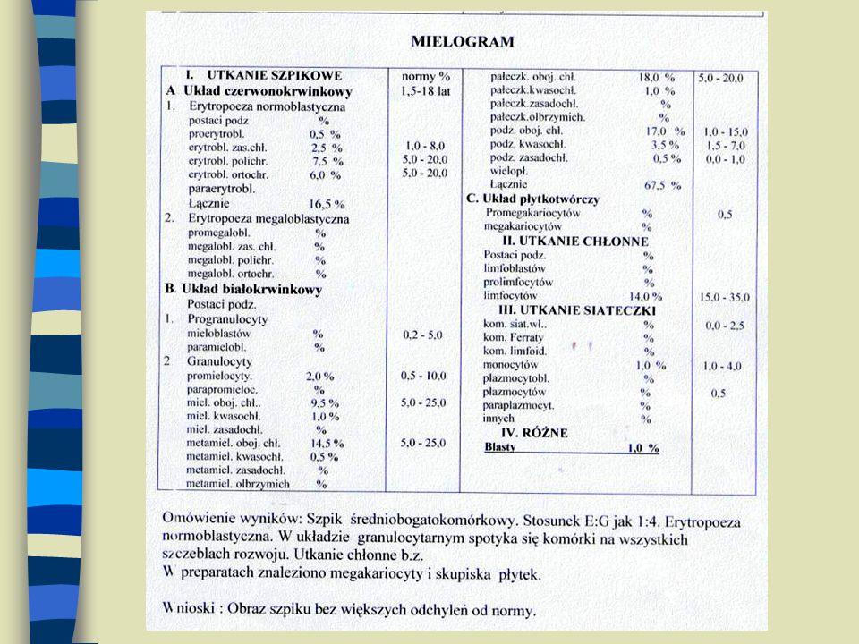 wskaźnik zmienności krwinek czerwonych miara anizocytozy, czyli zróżnicowania wielkości erytrocytów (heterogenność populacji erytrocytów) RDW (%) = SD x 100 % MCV norma - 11,5 – 14,5 % W niedokrwistości megaloblastycznej wzrost MCV, w mikrocytowej spadek- KONIECZNE analizowanie łącznie MCV i RDW RDW- RED CELL DISTRIBUTION WIDTH