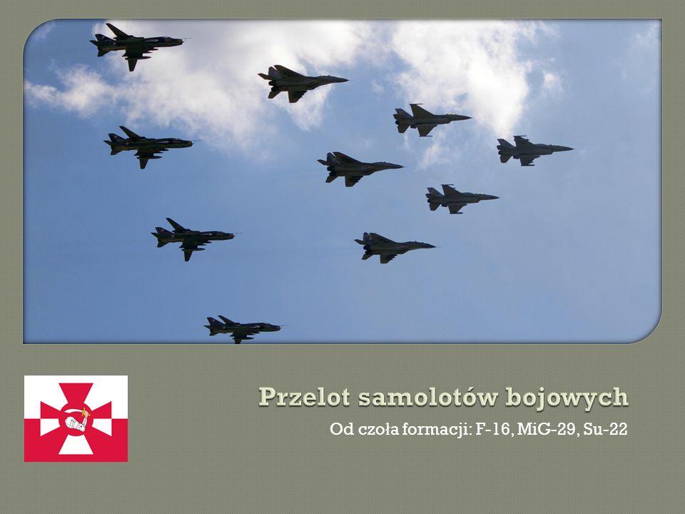 Od czo ł a formacji: F-16, MiG-29, Su-22