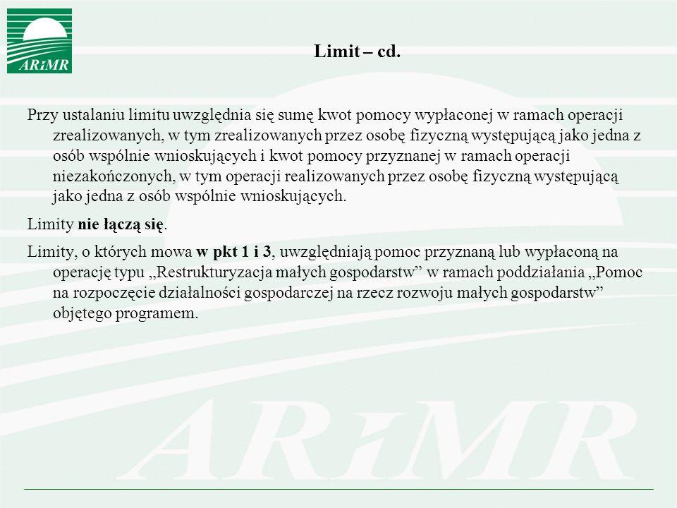 Limit – cd.