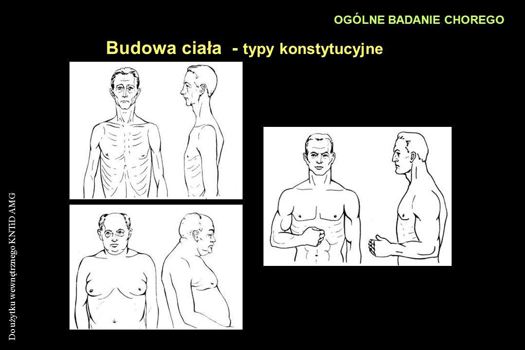 Do użytku wewnętrznego KNTiD AMG Budowa ciała - typy konstytucyjne OGÓLNE BADANIE CHOREGO