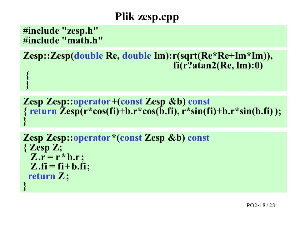 Plik zesp.cpp #include