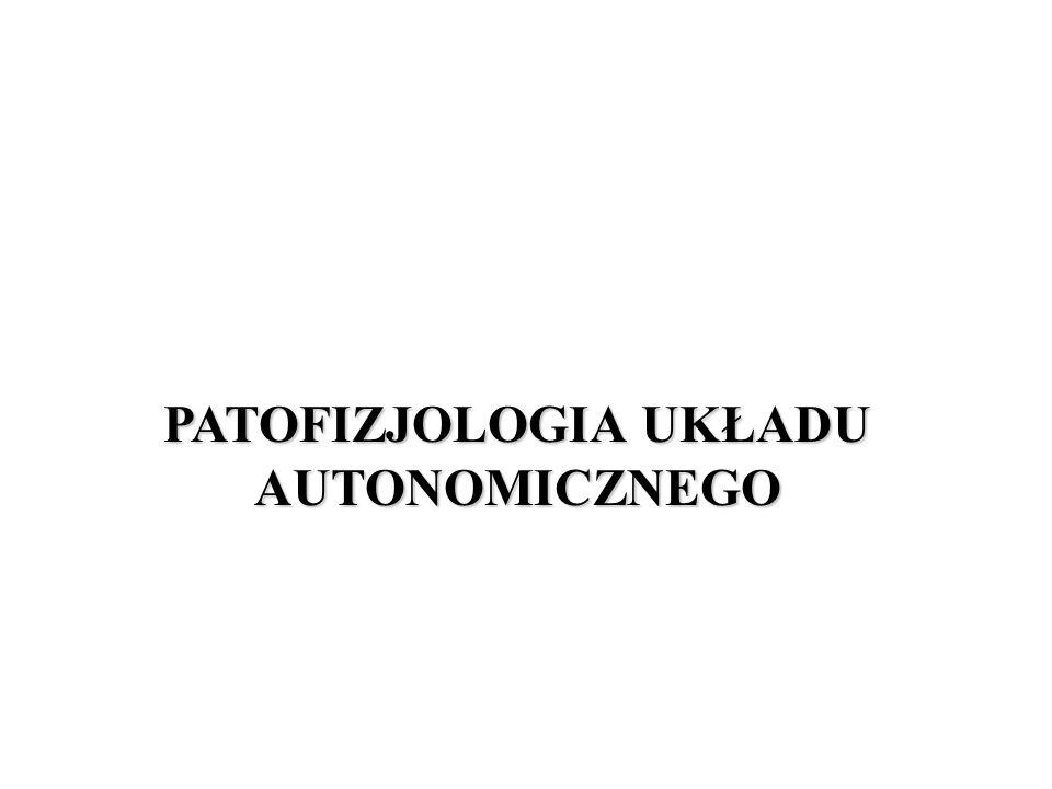 PATOFIZJOLOGIA UKŁADU AUTONOMICZNEGO