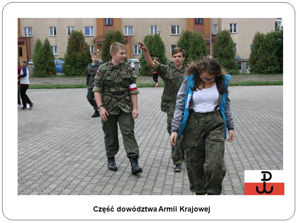 Część dowództwa Armii Krajowej