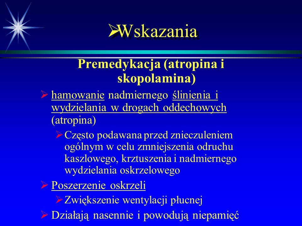  Syntetyczne pochodne alkaloidów belladonna Zawierające azot czwartorzędowy   Są słabo wchłaniane z przewodu pokarmowego   Nie przechodzą przez b