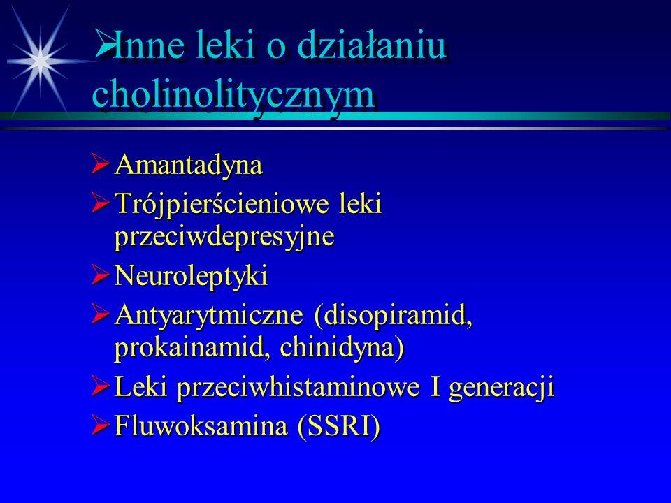  Preparaty złożone  Tolargin (atropina, metamizol i papaweryna)  Alax (wyciąg z kory kruszyny, korzenia lukrecji i alkaloidów pokrzyku)  Belergot