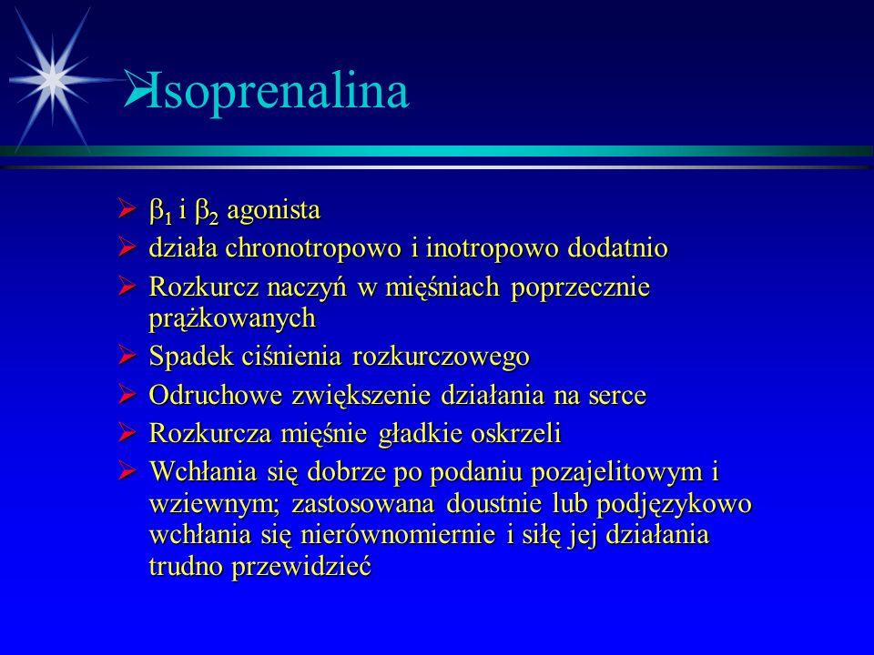  Leki beta-adrenomimetyczne nieselektywne