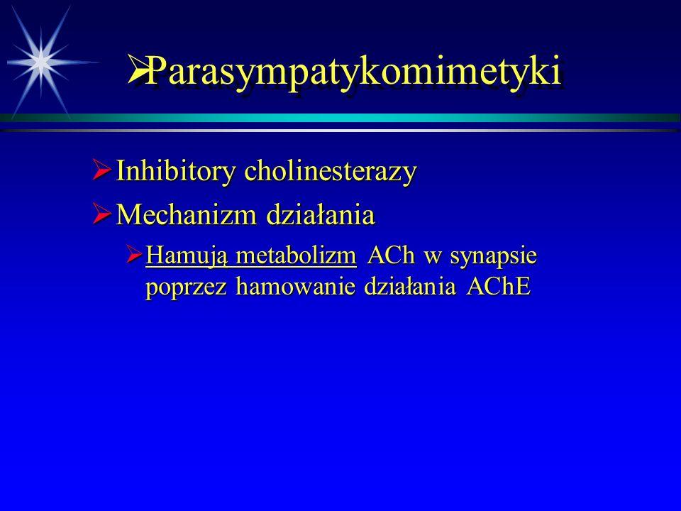  Receptory adrenergiczne  alpha 1  Skurcz mięśni gładkich naczyń  Skurcz mięśnia zwieracza źrenicy  beta 1  Chronotropowo i inotropowo dodatnio  Wydzielanie reniny przez zatokę szyjną