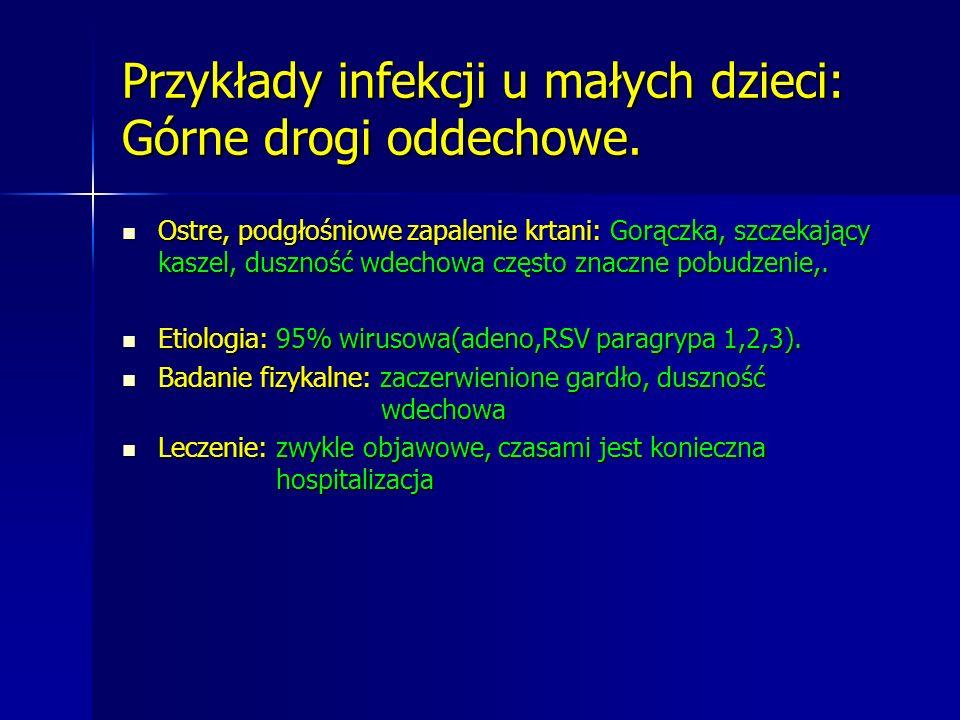 Przykłady infekcji u małych dzieci: Górne drogi oddechowe.