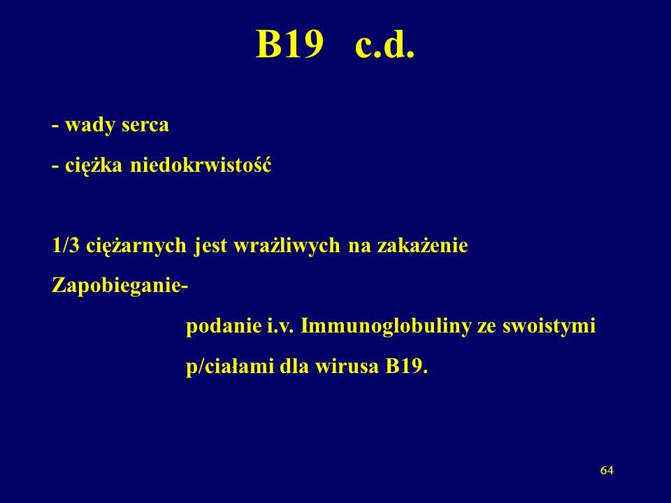 65 WZW A Nie ma znaczenia.Wirus nie przechodzi przez łożysko.