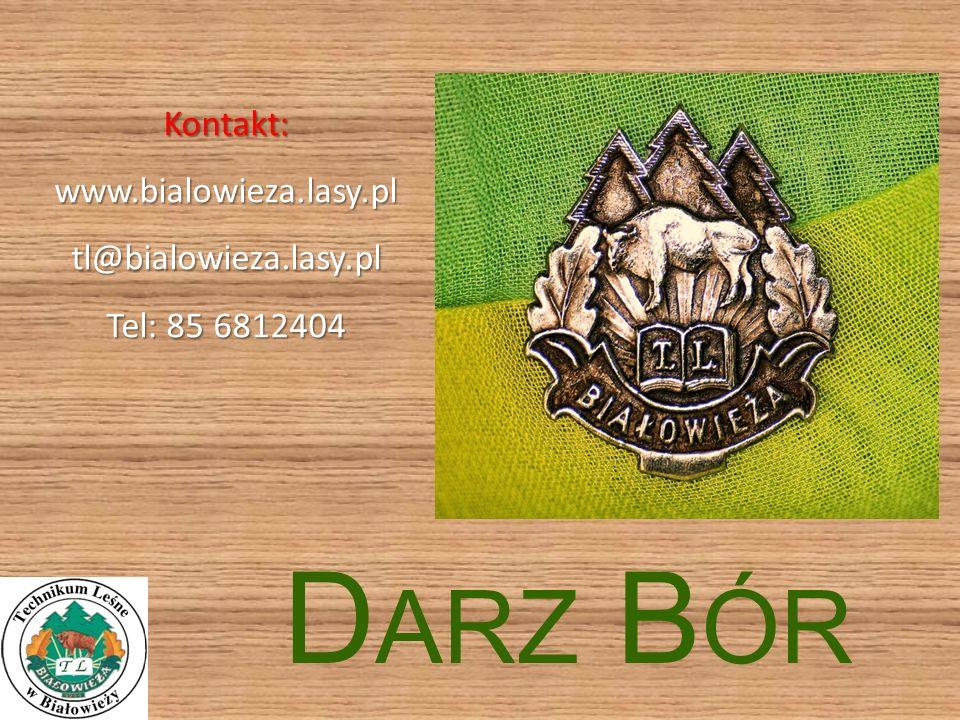 D ARZ B ÓR Kontakt:www.bialowieza.lasy.pltl@bialowieza.lasy.pl Tel: 85 6812404