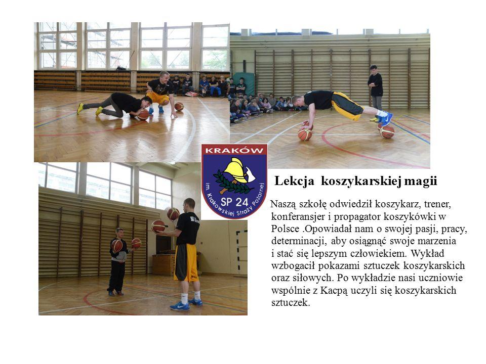 Lekcja koszykarskiej magii Naszą szkołę odwiedził koszykarz, trener, konferansjer i propagator koszykówki w Polsce.Opowiadał nam o swojej pasji, pracy, determinacji, aby osiągnąć swoje marzenia i stać się lepszym człowiekiem.
