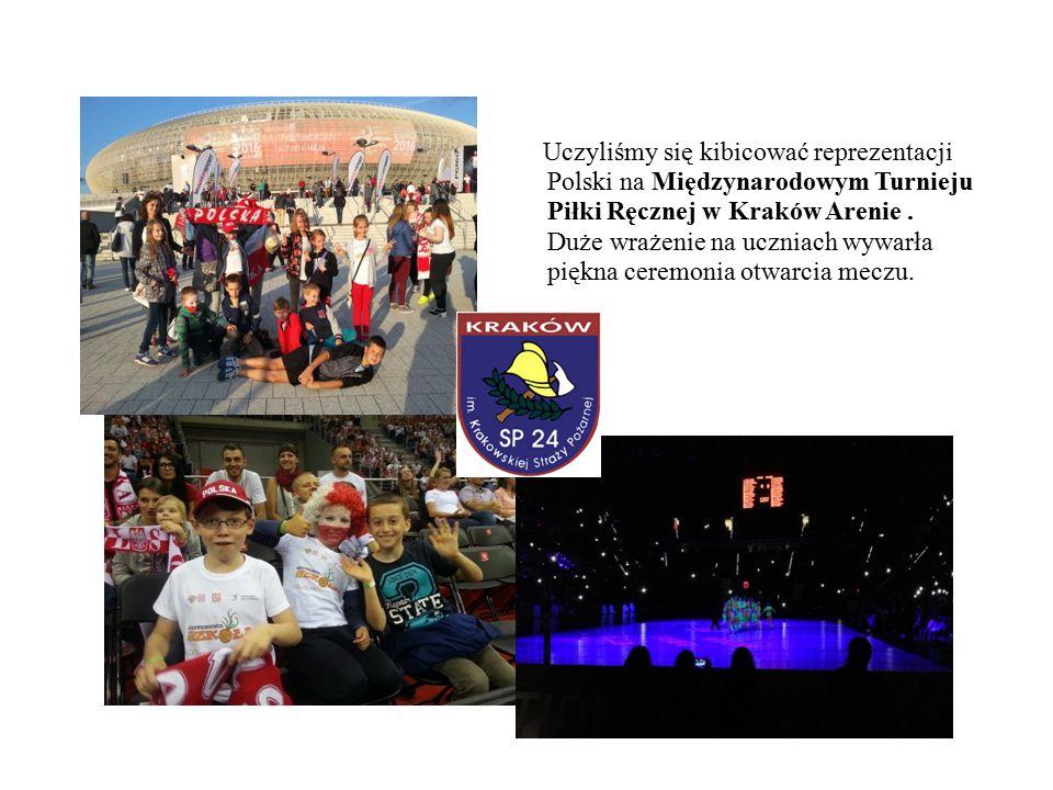 Uczyliśmy się kibicować reprezentacji Polski na Międzynarodowym Turnieju Piłki Ręcznej w Kraków Arenie.