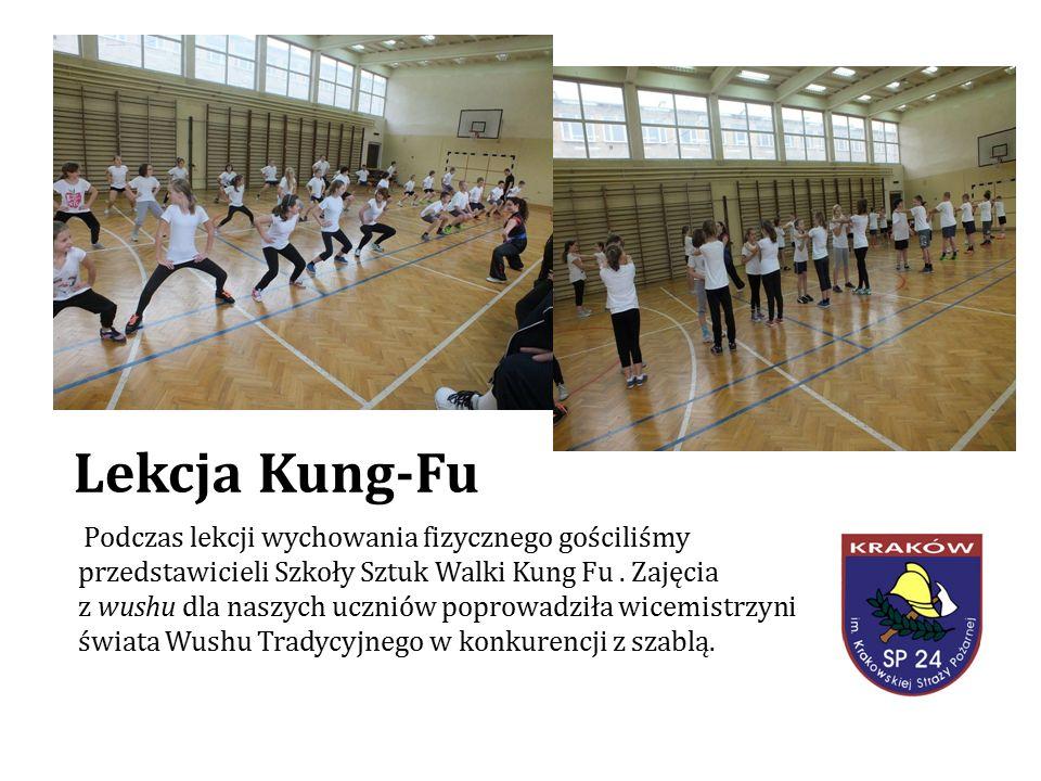 Lekcja Kung-Fu Podczas lekcji wychowania fizycznego gościliśmy przedstawicieli Szkoły Sztuk Walki Kung Fu.
