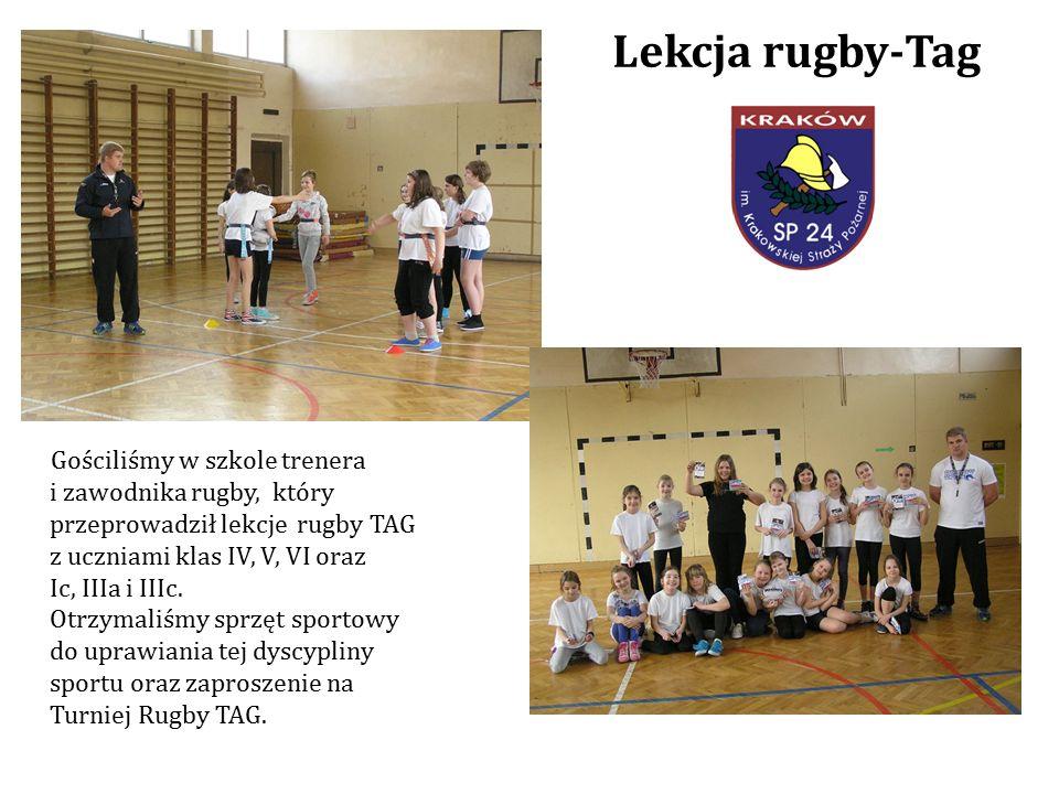 Gościliśmy w szkole trenera i zawodnika rugby, który przeprowadził lekcje rugby TAG z uczniami klas IV, V, VI oraz Ic, IIIa i IIIc.