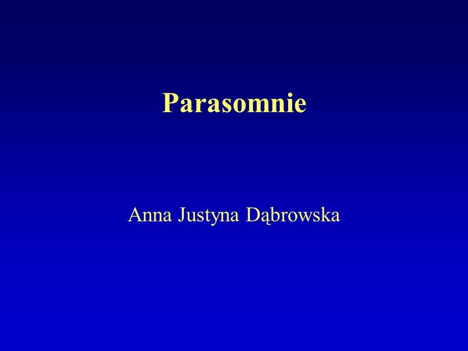 Parasomnie Anna Justyna Dąbrowska
