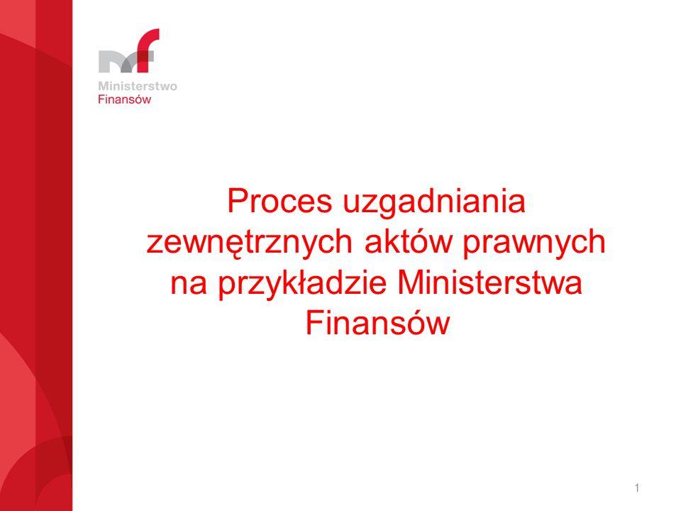 Proces uzgadniania zewnętrznych aktów prawnych na przykładzie Ministerstwa Finansów 1