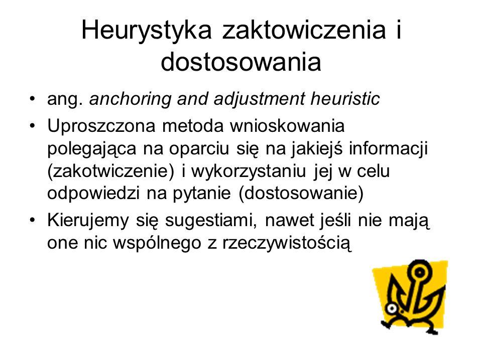 Heurystyka zaktowiczenia i dostosowania ang.