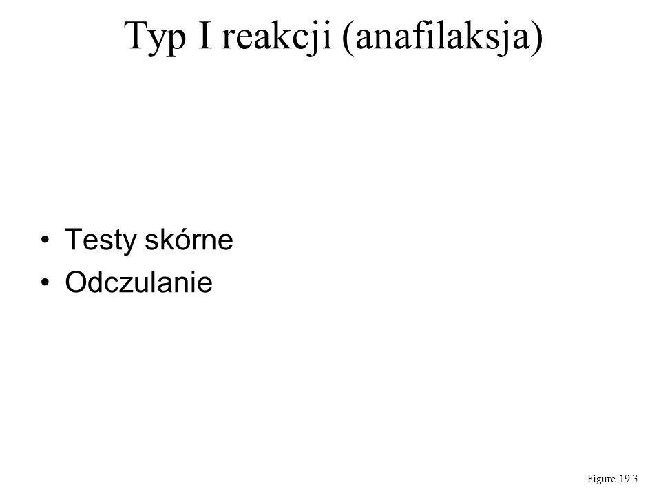 Testy skórne Odczulanie Typ I reakcji (anafilaksja) Figure 19.3