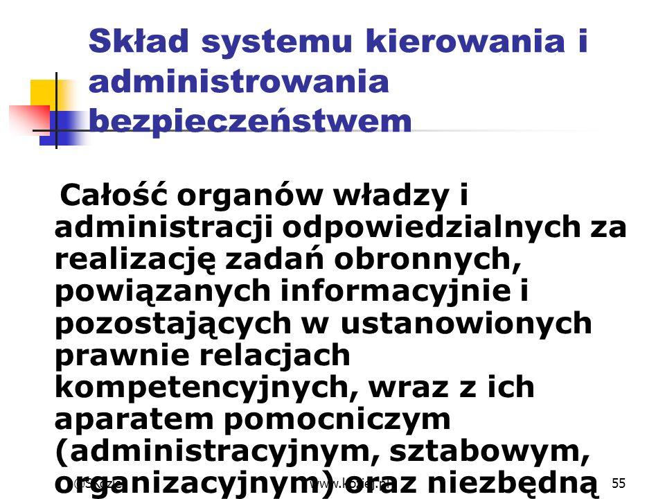 Całość organów władzy i administracji odpowiedzialnych za realizację zadań obronnych, powiązanych informacyjnie i pozostających w ustanowionych prawni