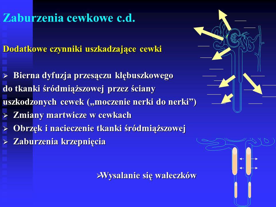 Zaburzenia cewkowe c.d.