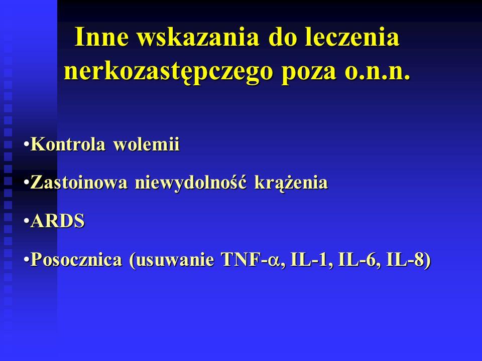 Inne wskazania do leczenia nerkozastępczego poza o.n.n.