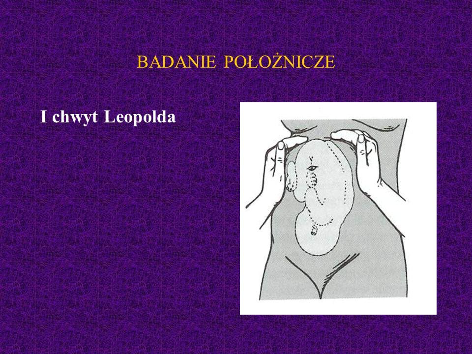 BADANIE POŁOŻNICZE I chwyt Leopolda
