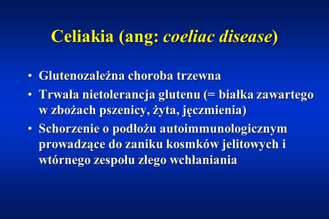 Nietolerancja sacharozy Pierwotny, genetycznie uwarunkowany niedobór sacharazy-izomaltazyPierwotny, genetycznie uwarunkowany niedobór sacharazy-izomaltazy –Uwaga: sacharoza nie jest cukrem redukującym; konieczna jest jej hydroliza (HCl) –10% mieszkańców Alaski –w pozostałych regionach rzadko Wtórny niedobór sacharazy Wtórny niedobór sacharazy –ostre i przewlekłe biegunki –alergia –celiakia