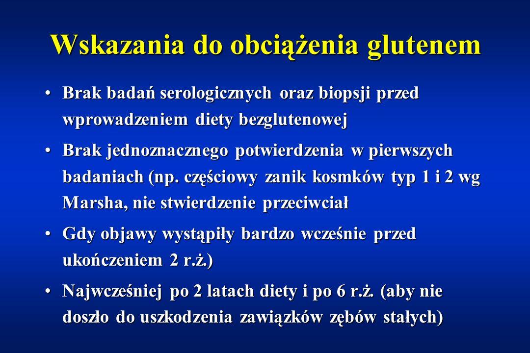 Test HLA Schuppan. Gastroenterology 2000;119:234 Kaukinen. Am J Gastroenterol 2002;97:695 Allele HLA związane z celiakią DQ2 stwierdza się u 95% chory