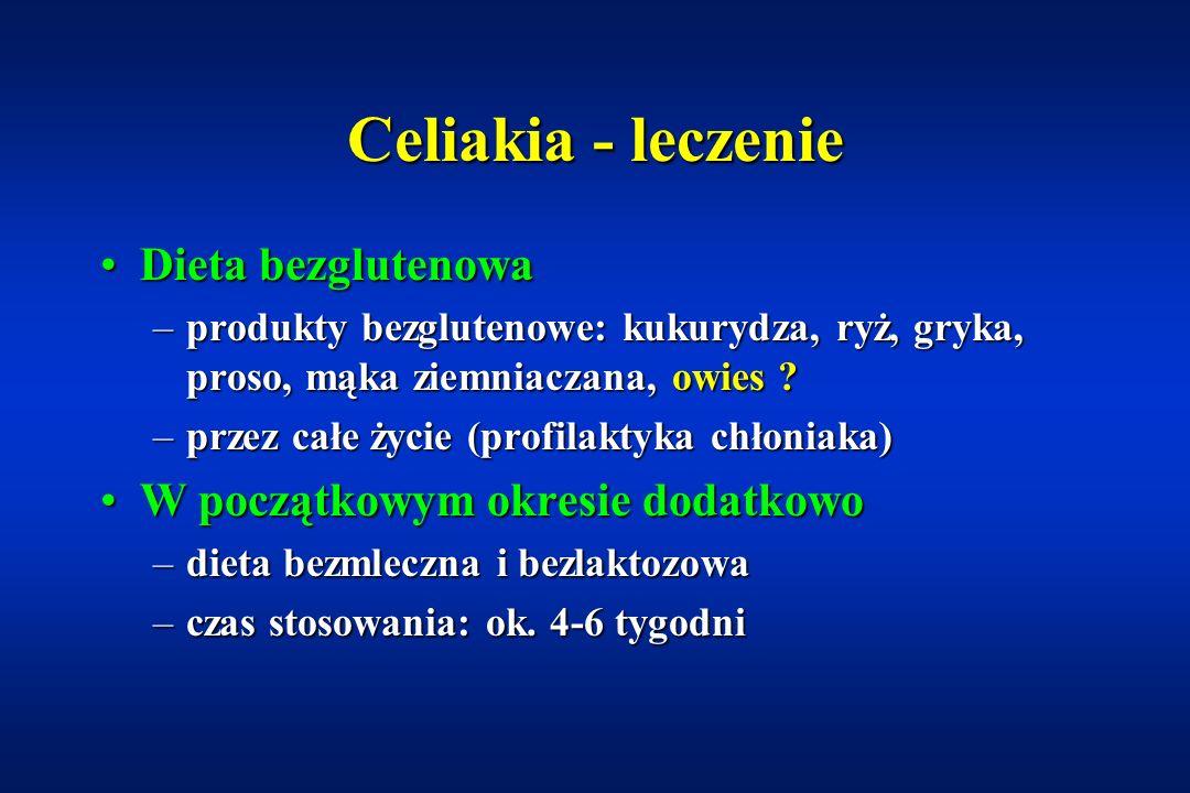 Choroby współistniejące z celiakią Opryszczkowate zapalenie skóry (Dermatitis herpetiformis)Opryszczkowate zapalenie skóry (Dermatitis herpetiformis) Cukrzyca (4,1-7%; Polska ok.