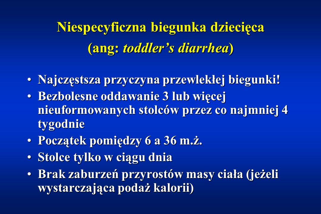 Mukowiscydoza – leczenie DietaDieta –bogatoenergetyczna (130-150% zapotrzebowania energetycznego) –nie należy ograniczać spożycia tłuszczów Witaminy A