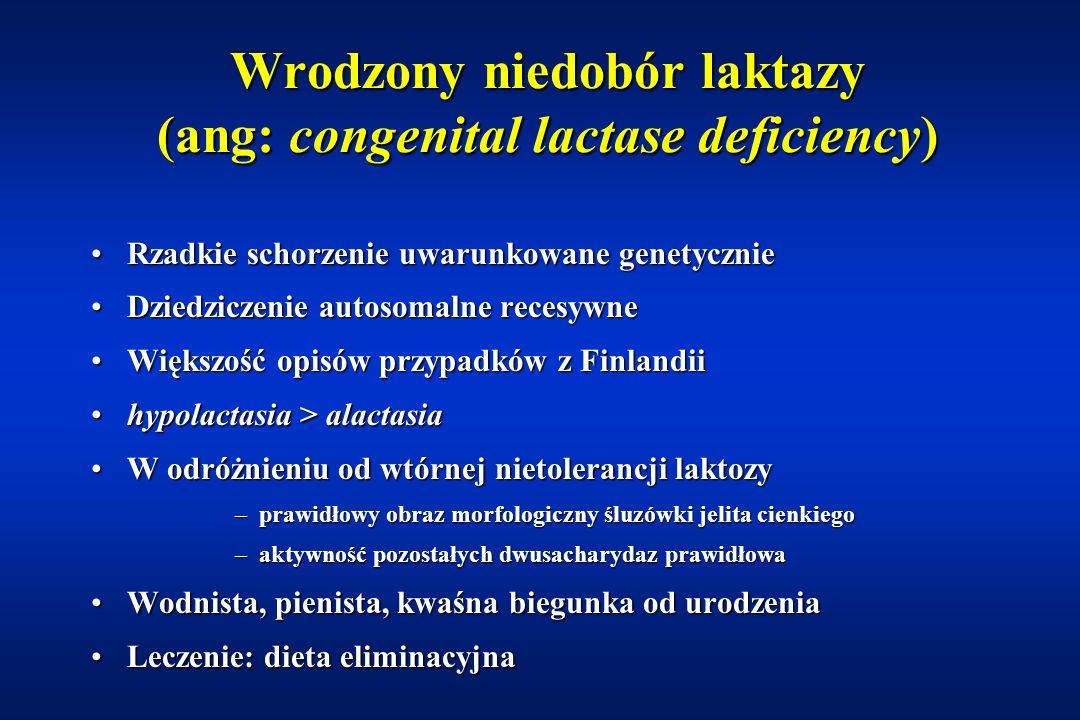 Biegunka sodowa (ang: congenital sodium diarrhoea) Biegunka przebiegająca z podwyższonym stężeniem sodu w stolcachBiegunka przebiegająca z podwyższonym stężeniem sodu w stolcach Defekt wymiany Na + /H +Defekt wymiany Na + /H + Pojedyncze opisy w piśmiennictwiePojedyncze opisy w piśmiennictwie Kwasica metabolicznaKwasica metaboliczna