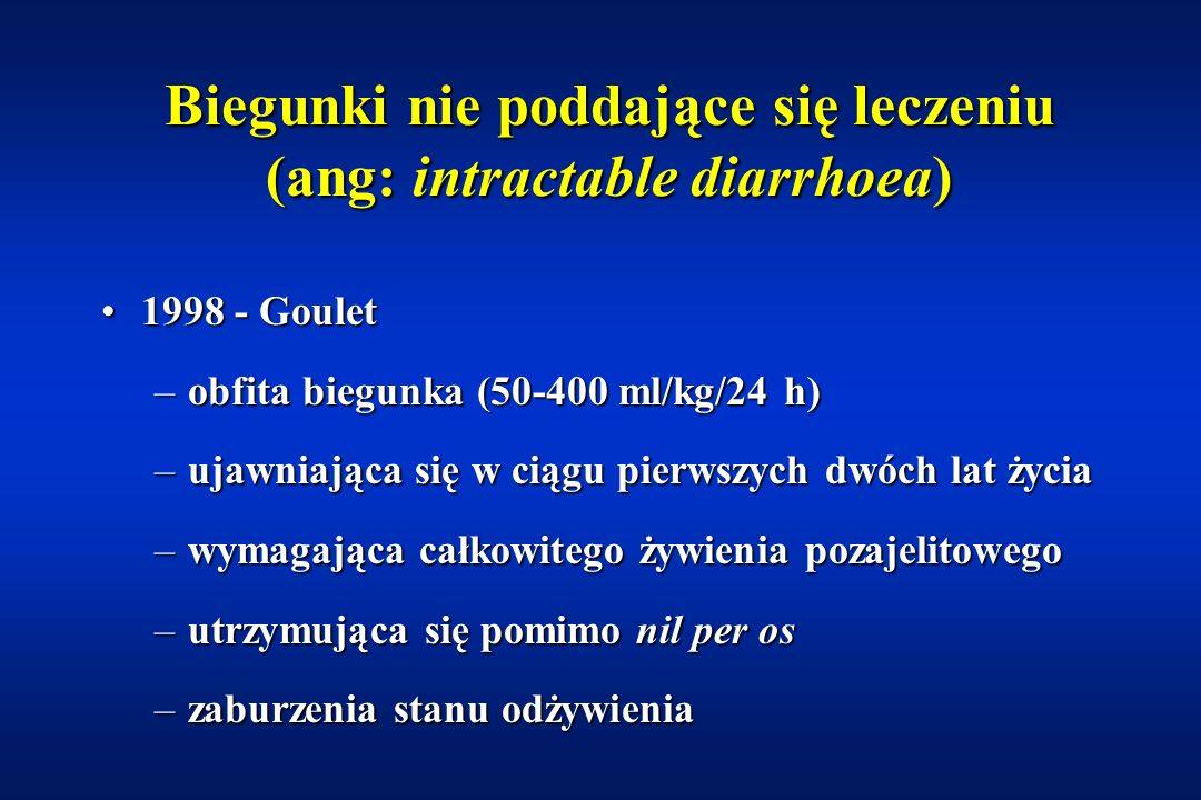 Wrodzone zaburzenia wchłaniania glukozy i galaktozy Eliminacja glukozy i galaktozyEliminacja glukozy i galaktozy W zastępstwie fruktozaW zastępstwie fruktoza Desjeux Gut 2000; 46: 585-587 Martin et al.
