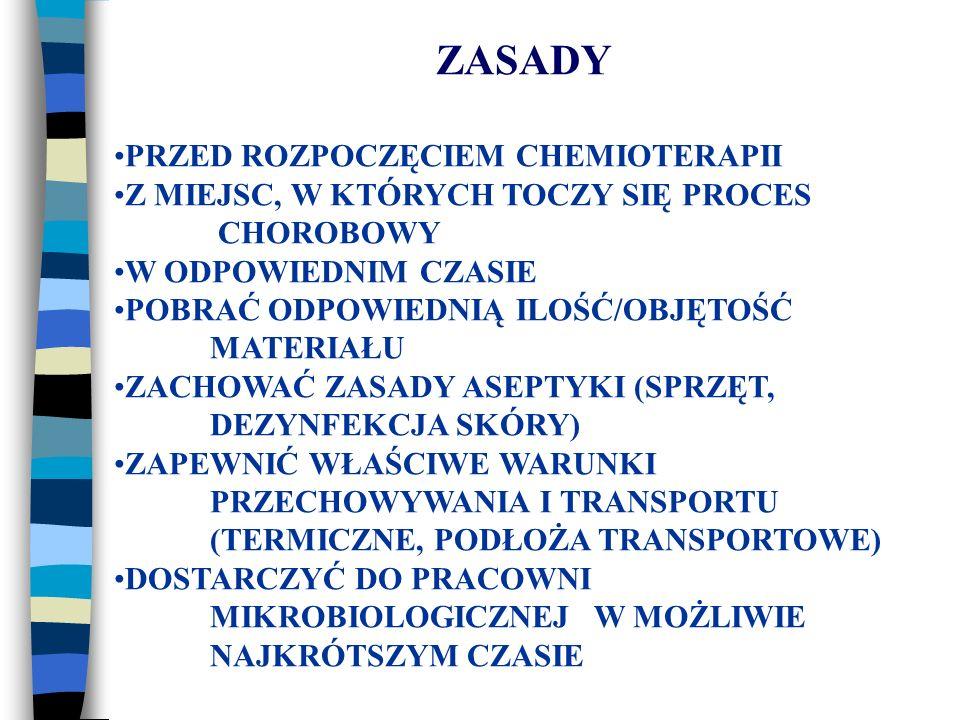 NAJBARDZIEJ ROZPOWSZECHNIONE SĄ KOMERCYJNE BIOCHEMICZNE TESTY DIAGNOSTYCZNE, NP.: API 20 E - PRZEZNACZONE DLA BAKTERII Z RODZINY ENTEROBACTERIACEAE API 20 A - DLA BAKTERII BEZTLENOWYCH