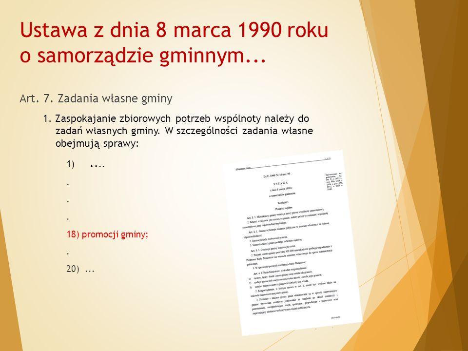 Ustawa z dnia 8 marca 1990 roku o samorządzie gminnym...